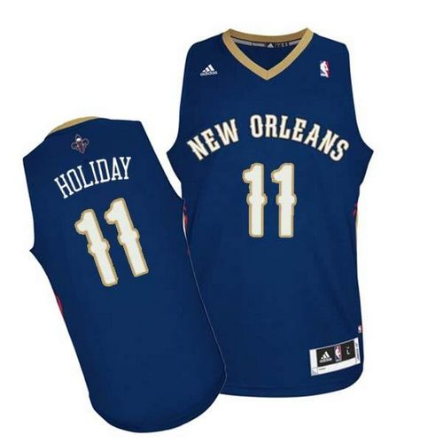 Revolution 30 Pelicans #11 Jrue Holiday Navy Stitched NBA Jersey