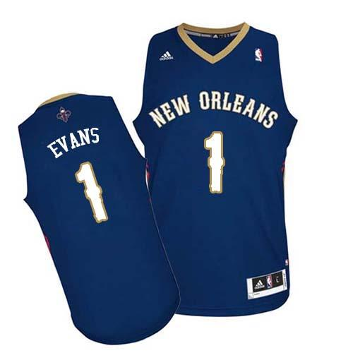 Revolution 30 Pelicans #1 Tyreke Evans Navy Stitched NBA Jersey