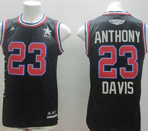 Pelicans #23 Anthony Davis Black 2015 All Star Stitched NBA Jersey