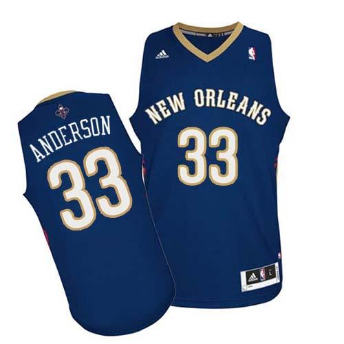 Revolution 30 Pelicans #33 Ryan Anderson Navy Stitched NBA Jersey