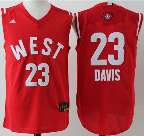 Pelicans #23 Anthony Davis Red 2016 All Star Stitched NBA Jersey