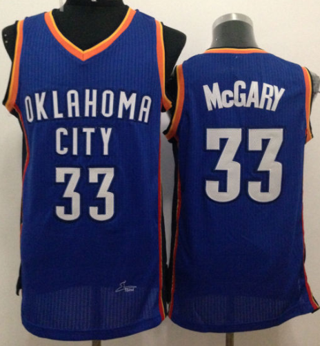 Revolution 30 Thunder #33 Mitch McGary Blue Stitched NBA Jersey