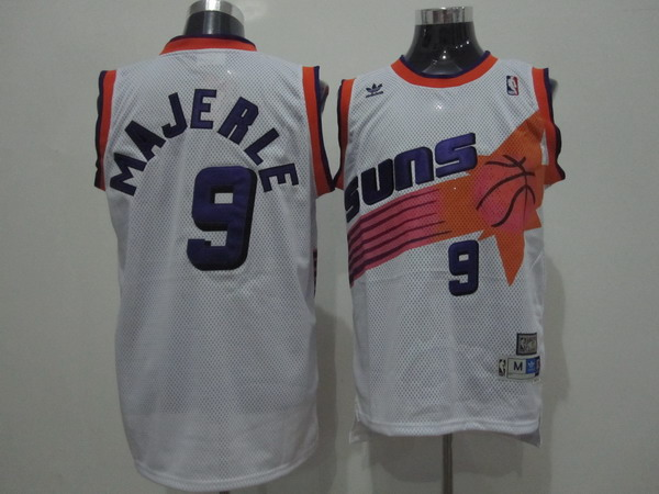Suns #9 Dan Majerle White Swingman Throwback Stitched NBA Jersey