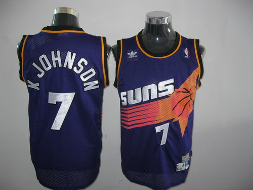 Suns #7 K Johnson Throwback Purple Stitched NBA Jersey
