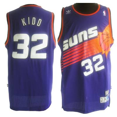 Suns #32 Jason Kidd Purple Throwback Stitched NBA Jersey