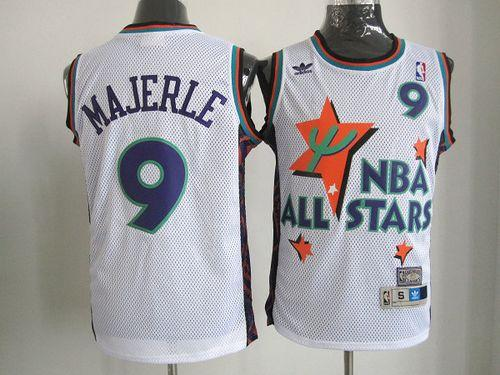 Suns #9 Dan Majerle White 1995 All Star Throwback Stitched NBA Jersey