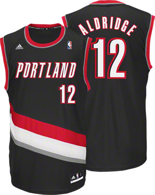 Blazers #12 LaMarcus Aldridge Black Revolution 30 Stitched NBA Jersey