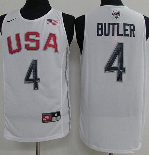 Nike Team USA #4 Jimmy Butler White 2016 Dream Team Stitched NBA Jersey