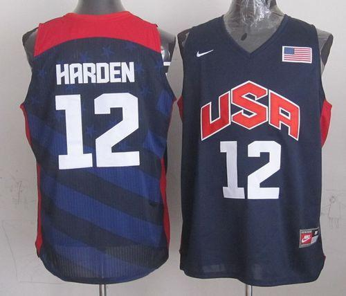 Nike 2012 Olympics Team USA #12 James Harden Dark Blue Stitched NBA Jersey