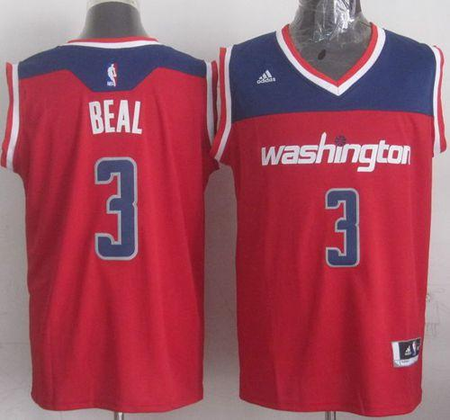 Revolution 30 Wizards #3 Bradley Beal Red Stitched NBA Jersey