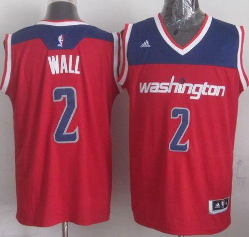 Wizards #2 John Wall Red 2012 Revolution 30 Stitched NBA Jersey