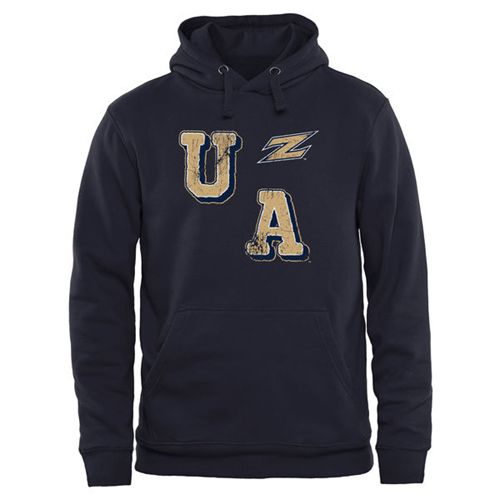 Akron Zips Acronym Pullover Hoodie Navy Blue