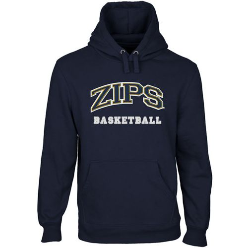 Akron Zips Custom Sport Arch Applique Pullover Hoodie Navy Blue