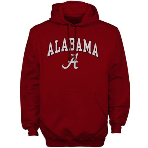 Alabama Crimson Tide New Agenda Midsize Arch Over Logo Hoodie Cardinal