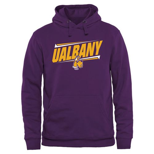 Albany Great Danes Double Bar Pullover Hoodie Purple