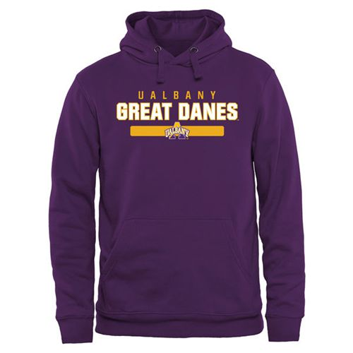 Albany Great Danes Team Strong Pullover Hoodie Purple
