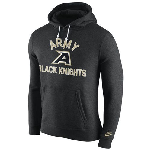 Army Black Knights Nike Club Rewind Hoodie Black