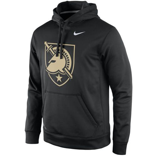 Army Black Knights Nike Practice Performance Hoodie Black
