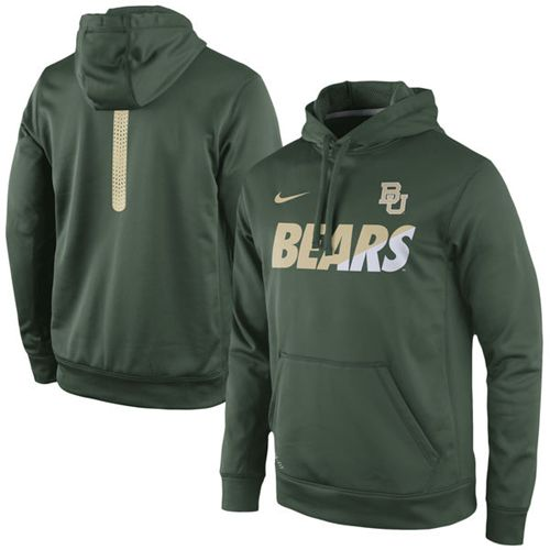 Baylor Bears Nike Sideline KO Fleece Therma-FIT Performance Hoodie Green