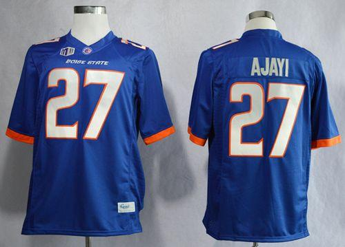 Broncos #27 Jay Ajayi Blue Stitched NCAA Jersey