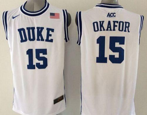 Blue Devils #15 Jahlil Okafor White Basketball New Stitched NCAA Jersey