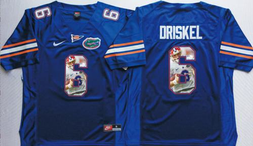 Gators #6 Jeff Driskel Blue Player Fashion Stitched NCAA Jersey
