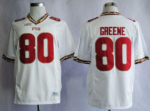 Seminoles #80 Rashad Greene White Stitched NCAA Jersey