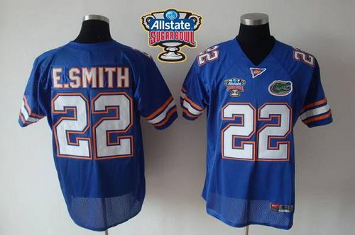 Gators #22 E.Smith Blue Allstate Sugar Bowl Stitched NCAA Jersey