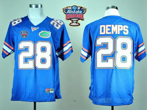 Gators #28 Jeff Demps Blue Allstate Sugar Bowl Stitched NCAA Jersey