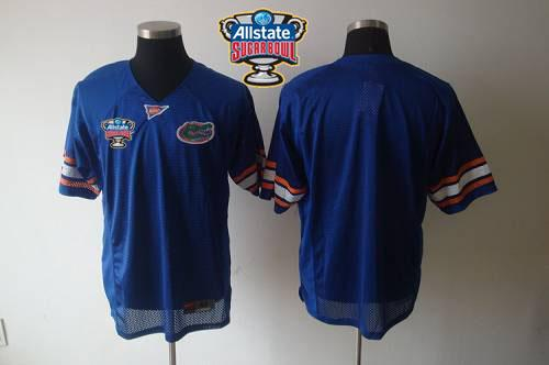 Gators Blank Blue Allstate Sugar Bowl Stitched NCAA Jersey