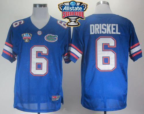 Gators #6 Jeff Driskel Blue Allstate Sugar Bowl Stitched NCAA Jersey