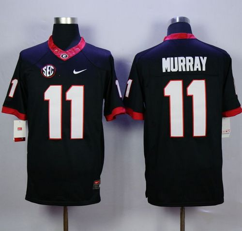 Bulldogs #11 Aaron Murray Black Limited Stitched NCAA Jersey