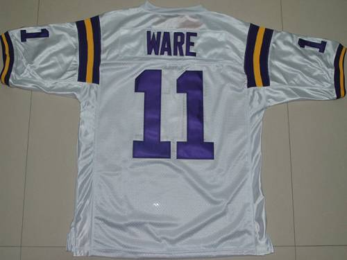 LSU Tigers #11 Spencer Ware White Stitched NCAA Jersey