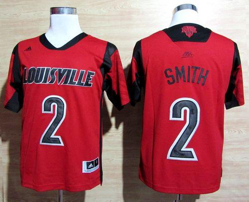 Cardinals #2 Russ Smith Red Basketball Stitched NCAA Jersey