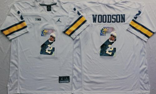 Wolverines #2 Charles Woodson White Player Fashion Stitched NCAA Jersey