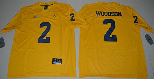 Wolverines #2 Charles Woodson Gold Jordan Brand Limited Stitched NCAA Jersey