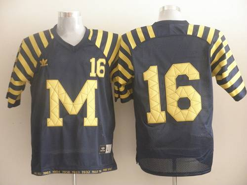 Wolverines #16 Denard Robinson Blue Under The Lights Stitched NCAA Jersey