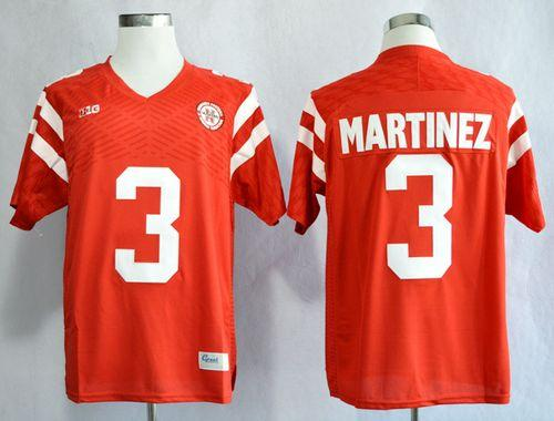 Cornhuskers #3 Taylor Martinez Red New Big 10 Stitched NCAA Jersey