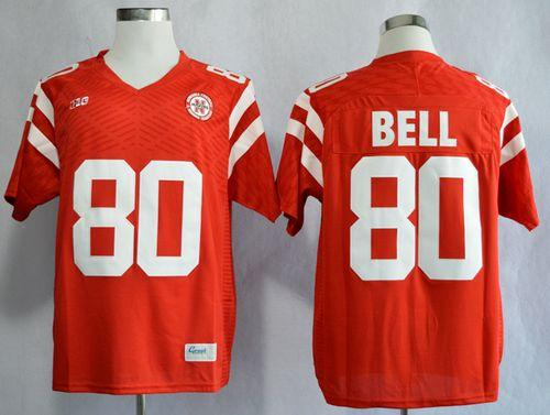 Cornhuskers #80 Kenny Bell Red New Big 10 Stitched NCAA Jersey