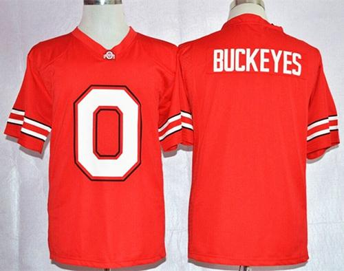 Buckeyes Red Pride Fashion Stitched NCAA Jersey