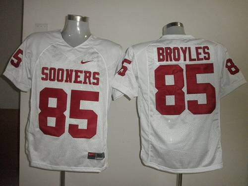 Sooners #85 Ryan Bryoles White Stitched NCAA Jersey