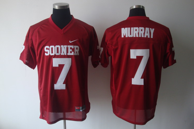 Sooners #7 DeMarco Murray Red Stitched NCAA Jersey