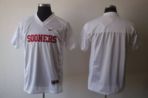 Sooners Blank White Stitched NCAA Jersey