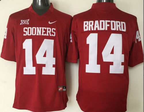 Sooners #14 Sam Bradford Red XII Stitched NCAA Jersey