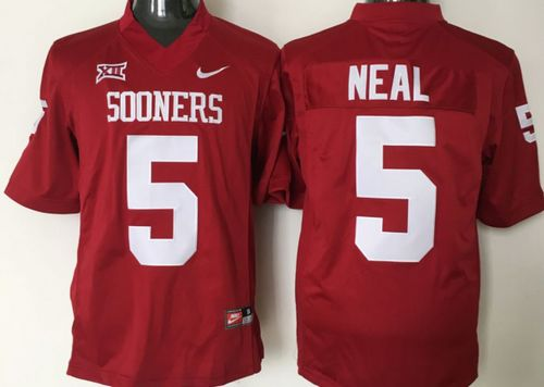 Sooners #5 Durron Neal Red XII Stitched NCAA Jersey