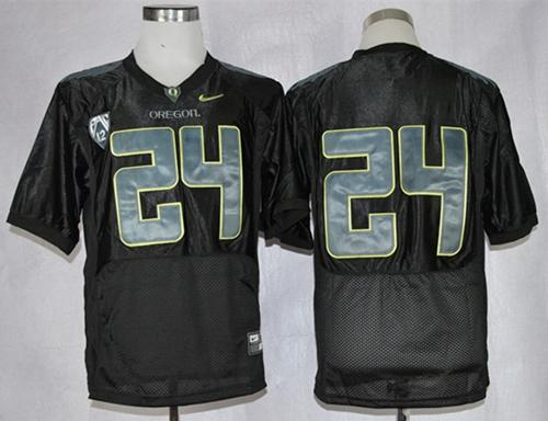 Ducks #24 Thomas Tyner Black Combat Stitched NCAA Jersey
