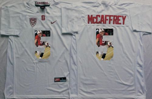 Cardinal #5 Christian McCaffrey White Player Fashion Stitched NCAA Jersey