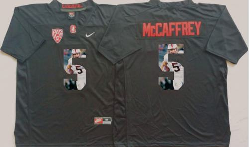 Cardinal #5 Christian McCaffrey Black Player Fashion Stitched NCAA Jersey