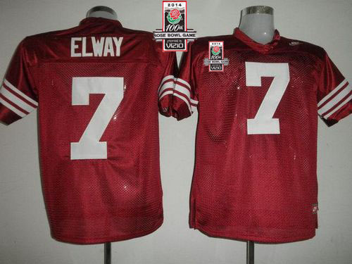 Cardinal #7 John Elway Red 2014 Rose Bowl Patch Stitched NCAA Jersey