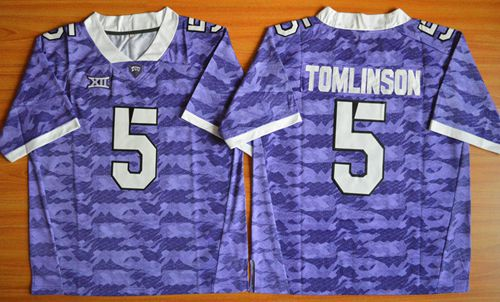Horned Frogs #5 LaDainian Tomlinson Purple Stitched NCAA Jersey
